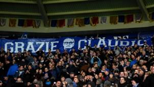 banner Ranieri Leicester City Liverpool