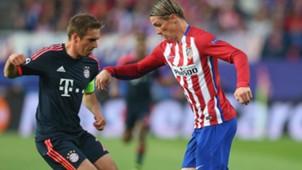 Phillip Lahm Fernando Torres Atletico Madrid Bayern Munich 270416
