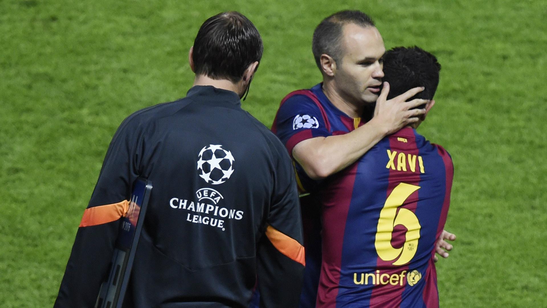 Xavi Hernandez Andrés Iniesta Barcelona Juventus Champions League 06062015