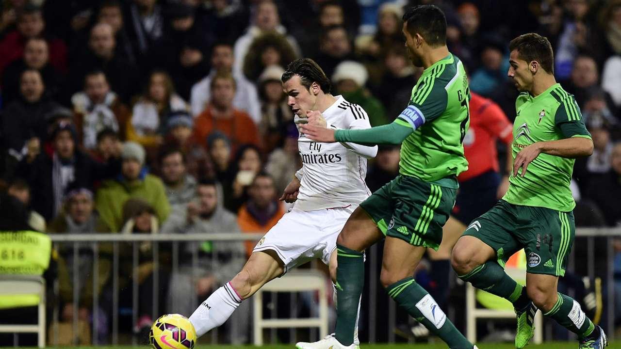 Gareth Bale Gustavo Cabral Real Madrid Celta de Vigo La Liga 06122014