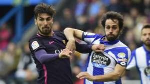 Andre Gomes Deportivo Coruna Barcelona La Liga