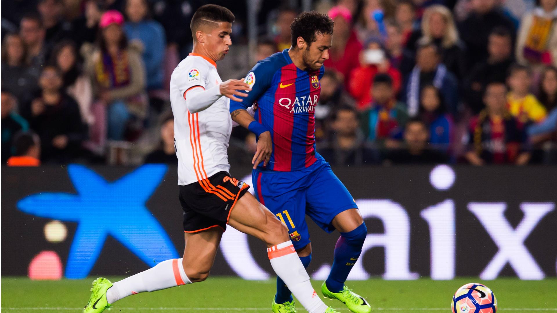 Neymar Joao Cancelo Barcelona Valencia La Liga