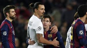 Zlatan Ibrahimovic Lionel Messi