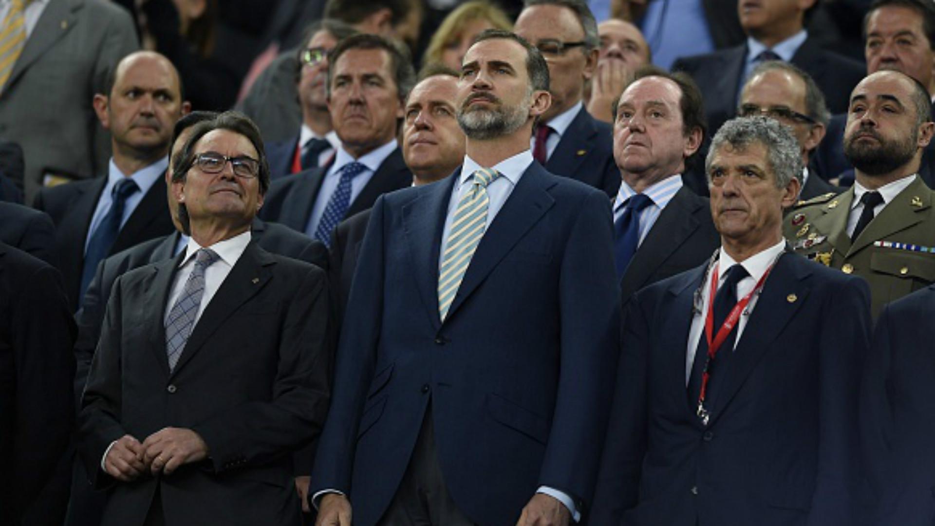 Felipe VI Angel Maria Villar Athletic Barcelona Copa del Rey