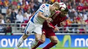 Gerard Pique Tomas Hubocan Spain Slovakia Euro Qualifier