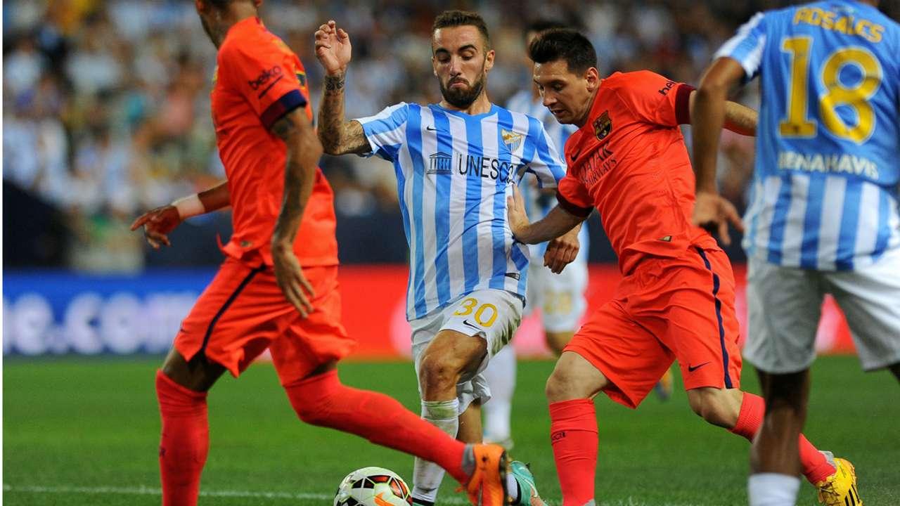 Lionel Messi Sergi Darder Malaga Barcelona Liga BBVA