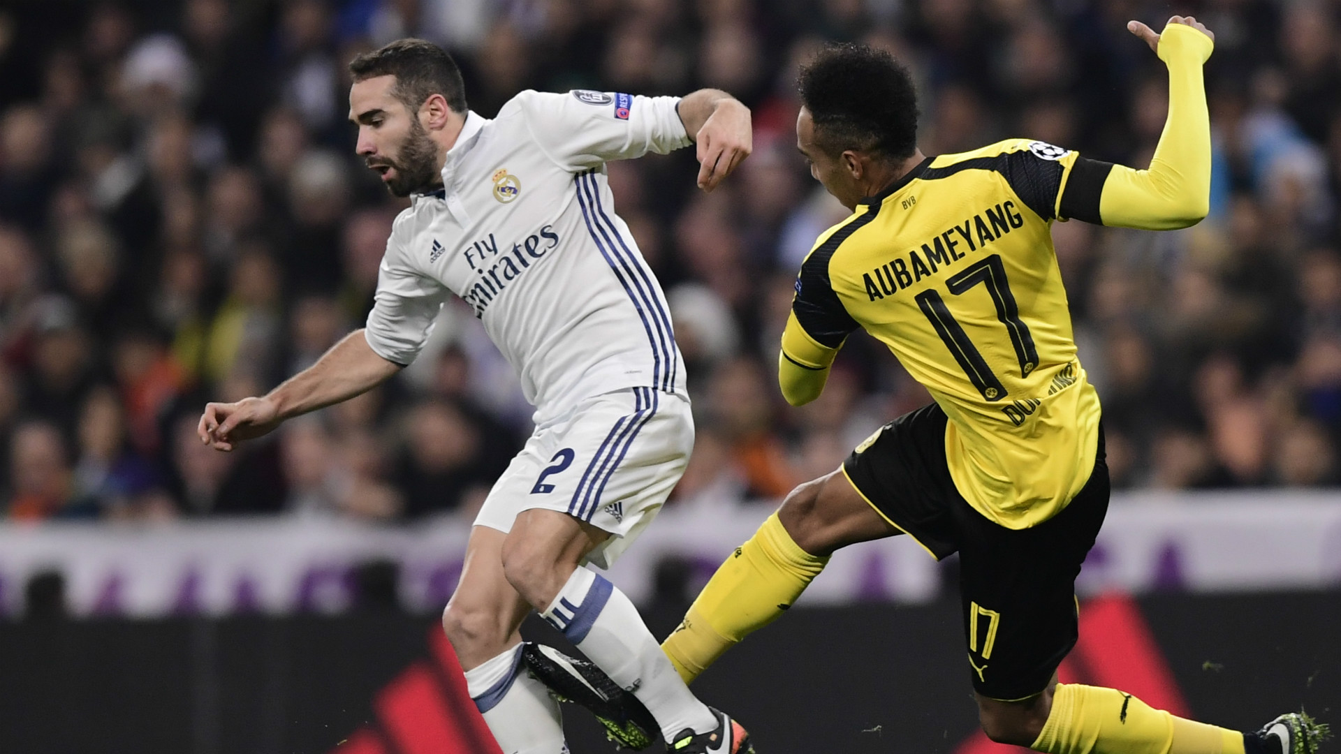 Carvajal Aubameyang Real Madrid Borussia Dortmund Champions League