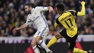 Carvajal Aubameyang Real Madrid Borussia Dortmund Champions League