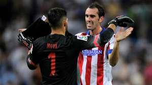 Miguel Angel Moya Diego Godin Atletico Madrid La Liga 09132014