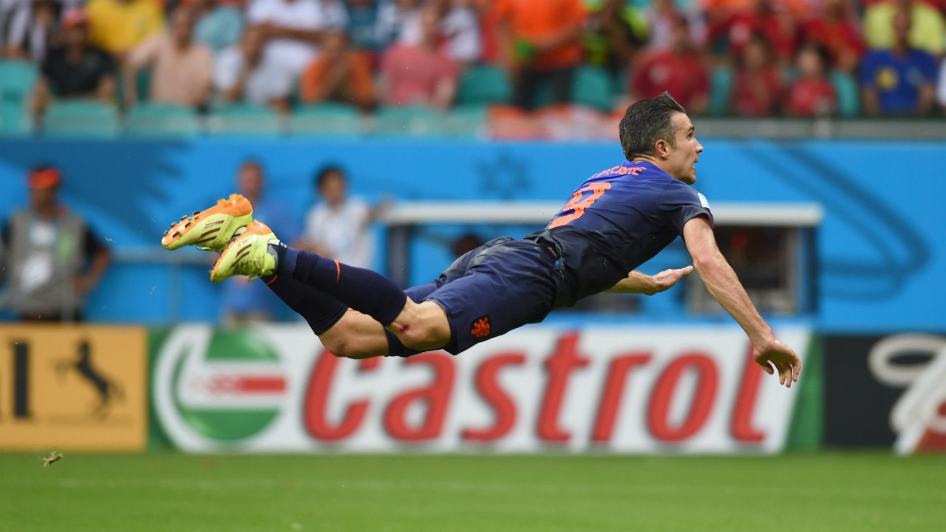 Robin Van Persie Netherlands Spain World Cup