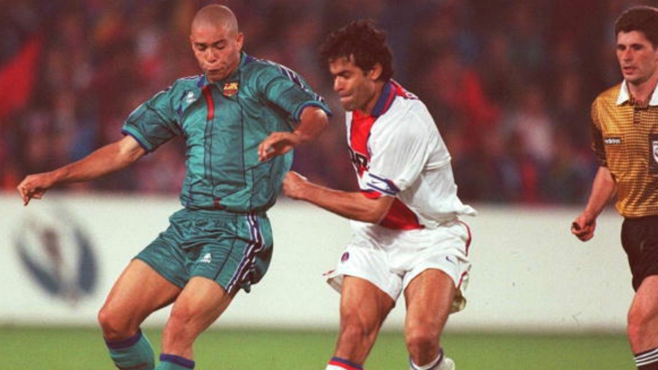 Ronaldo Raí Barcelona PSG Recopa 1997 0514199