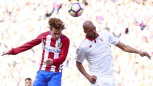 Antoine Griezmann Steven Nzonzi Atletico Madrid Sevilla La Liga
