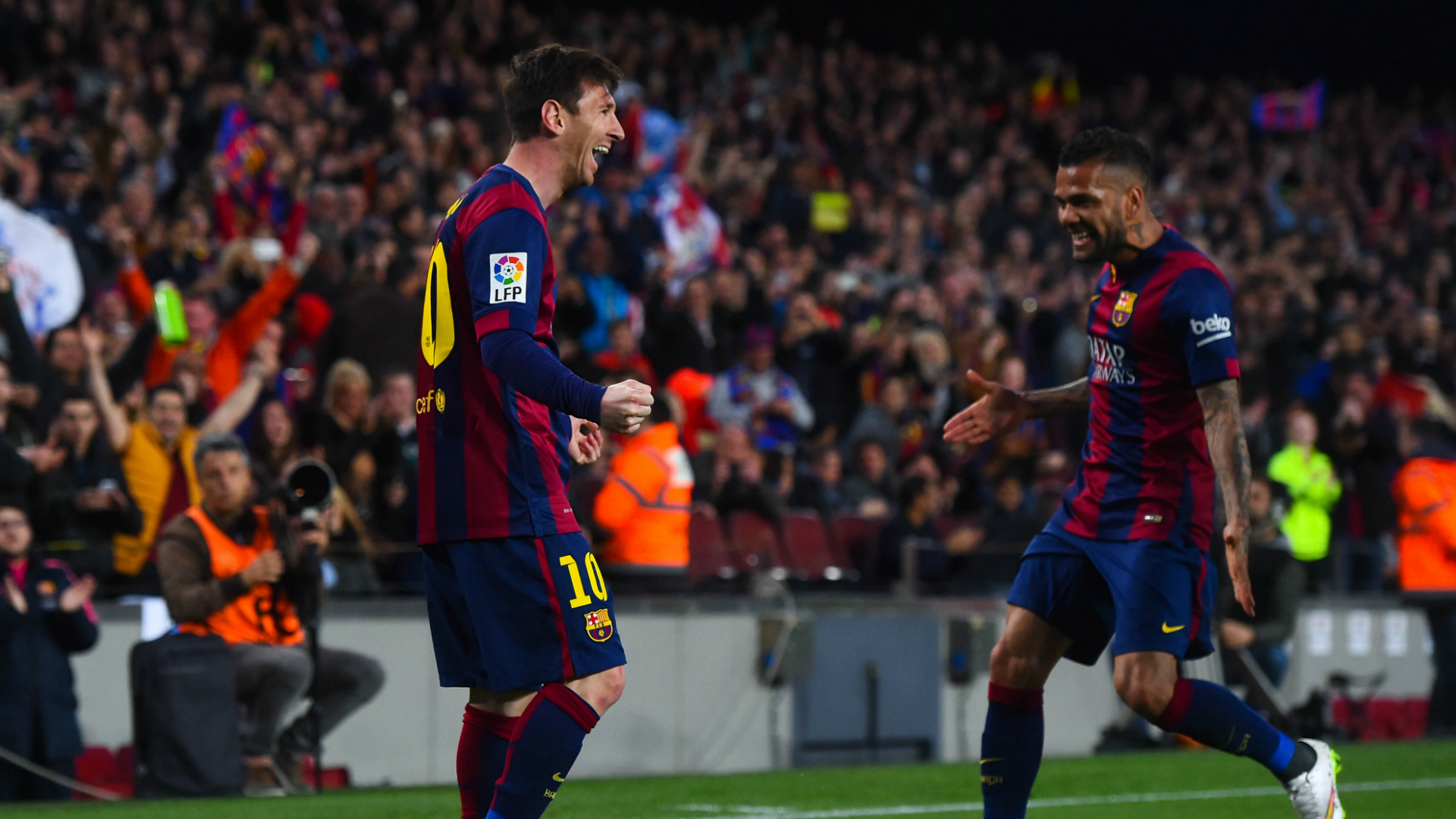 Lionel Messi Dani Alves Barcelona Almeria Liga BBVA 04082015