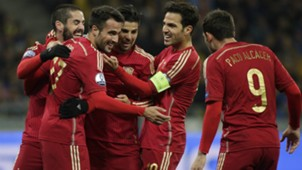 Mario Gaspar Isco Alarcón Cesc Fabregas Ukraine Spain Euro Qualifier