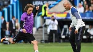 Luka Modric Zinedine Zidane