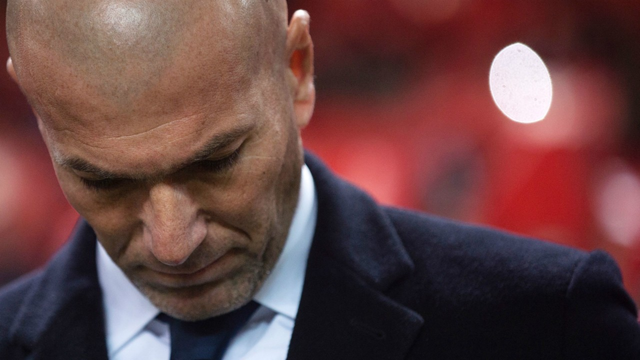 Zinedine Zidane Sevilla Real Madrid La Liga 15012017
