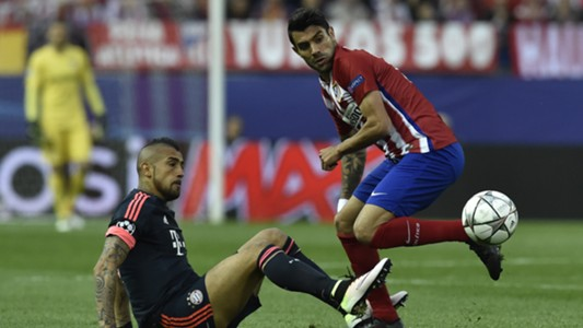Arturo Vidal Augusto Fernández Atletico Madrid Bayern Munich 270416