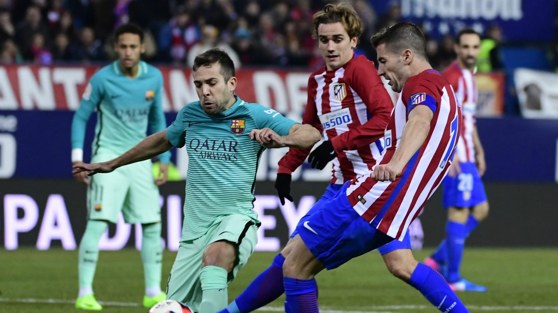 Gabi Jordi Alba Griezmann Atletico Madrid Barcelona Copa del Rey