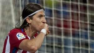 Filipe Luis Malaga Atletico Madrid La Liga