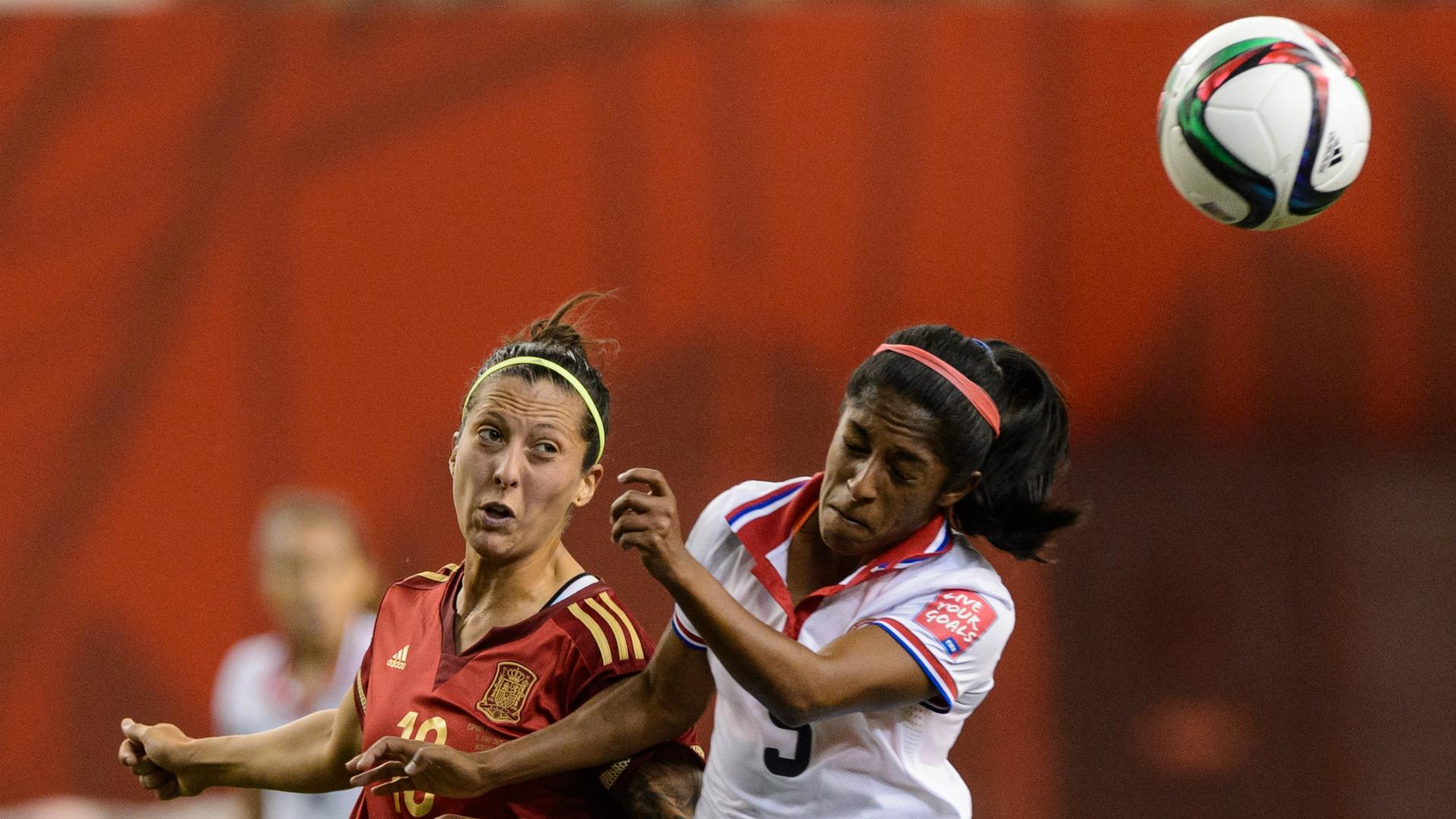 Jenifer Hermoso Diana Saenz Spain Costa Rica Women World Cup 06092015