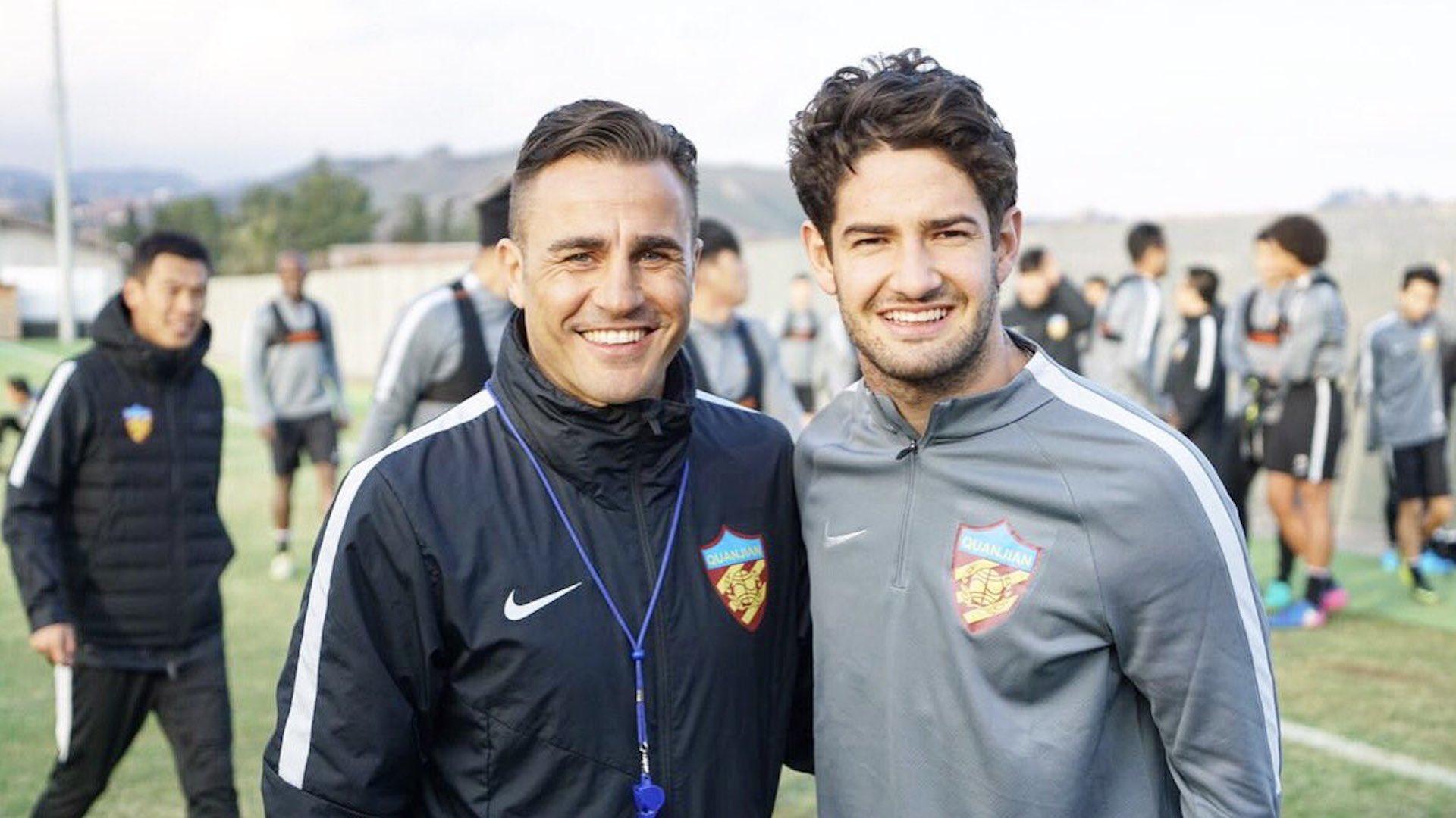 Fabio Cannavaro Alexandre Pato Tianjin Quanjian
