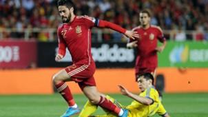 Taras Stepanenko Isco Alarcón Euro 2016 qualifying Spain v Ukraine