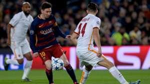 Lionel Messi Manolas Barcelona Roma Champions League