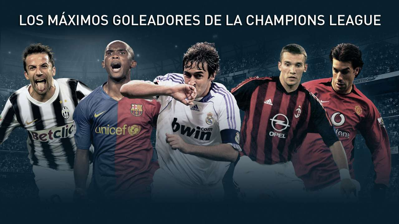 GFX Champions League greatest goalsocrers