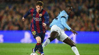 Lionel Messi Yaya Toure Barcelona Manchester City UEFA Champions League 18032015