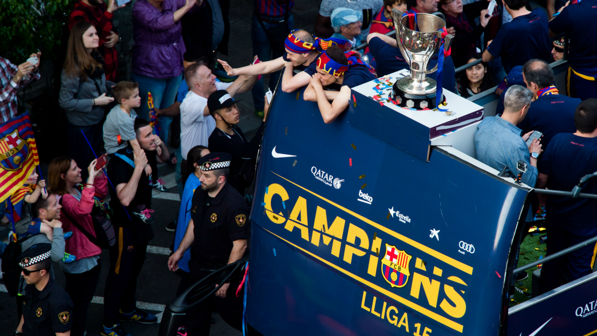 Barcelona Champions rua