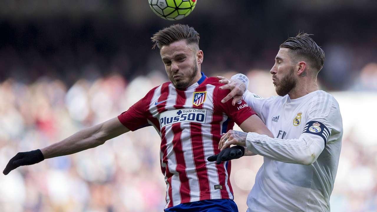 Saul Niguez Sergio Ramos Real Madrid Atletico Madrid La Liga 27022016