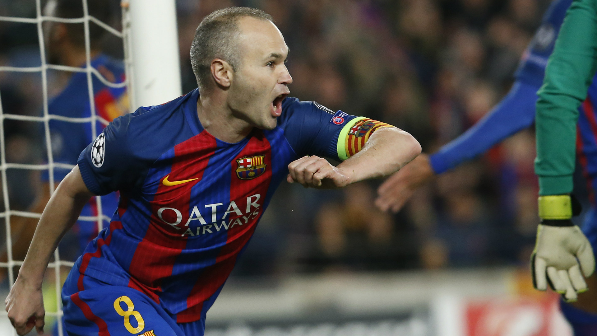 Andres Iniesta Barcelona PSG UEFA Champions League 08032016