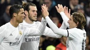 Cristiano Ronaldo Gareth Bale Luka Modric Real Madrid Deportivo Coruna La Liga 09012016