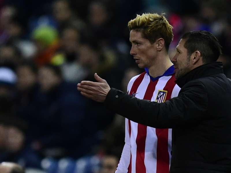 Simeone não está preocupado com a seca de gols de Torres