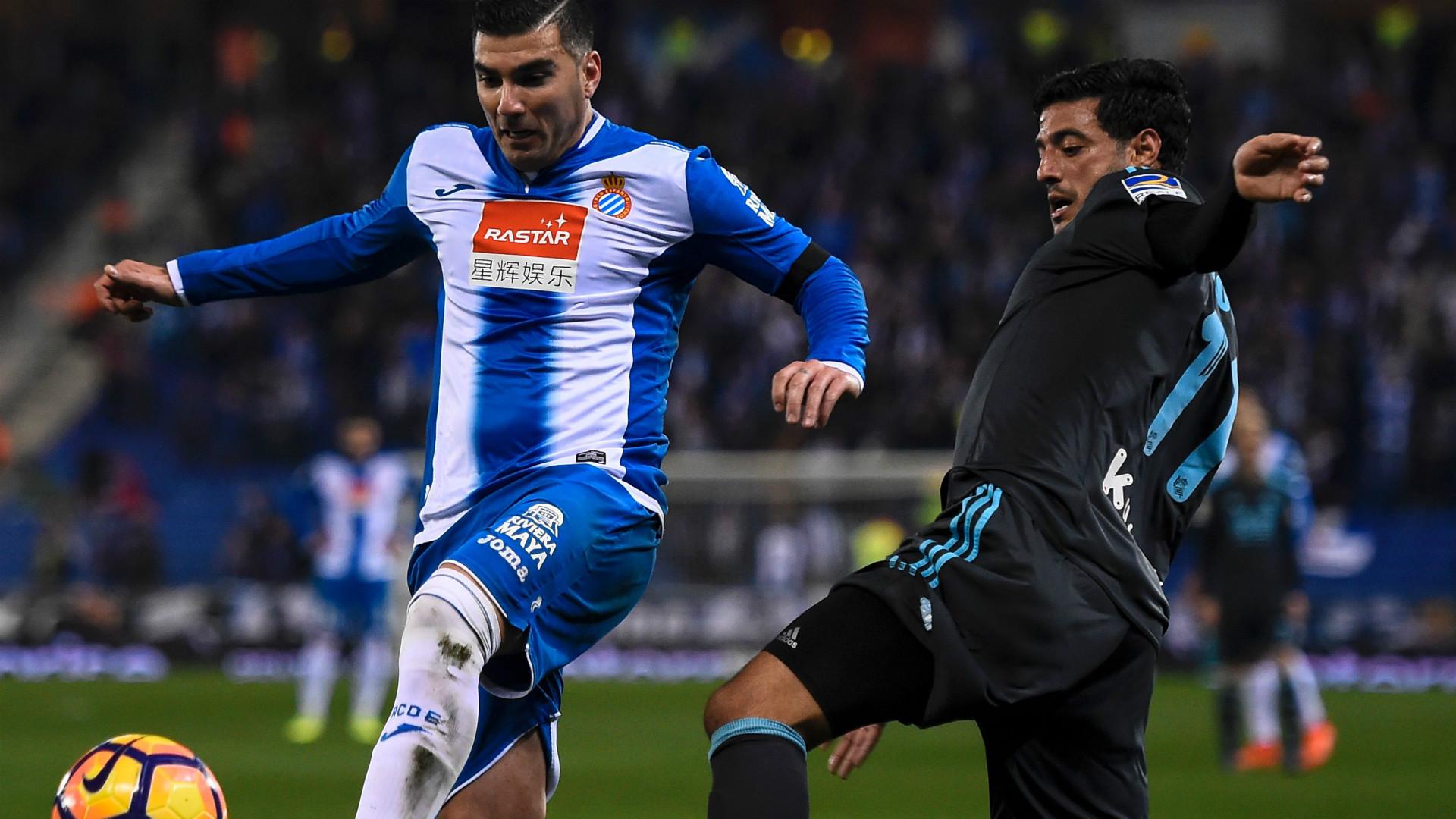 Jose Antonio Reyes Carlos Vela Espanyol Real Sociedad LaLiga