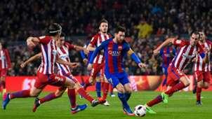 Messi Filipe Luis Diego Godin Barcelona Atletico Madrid Copa del Rey