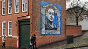 Mural in the streets of Leicester Ranieri