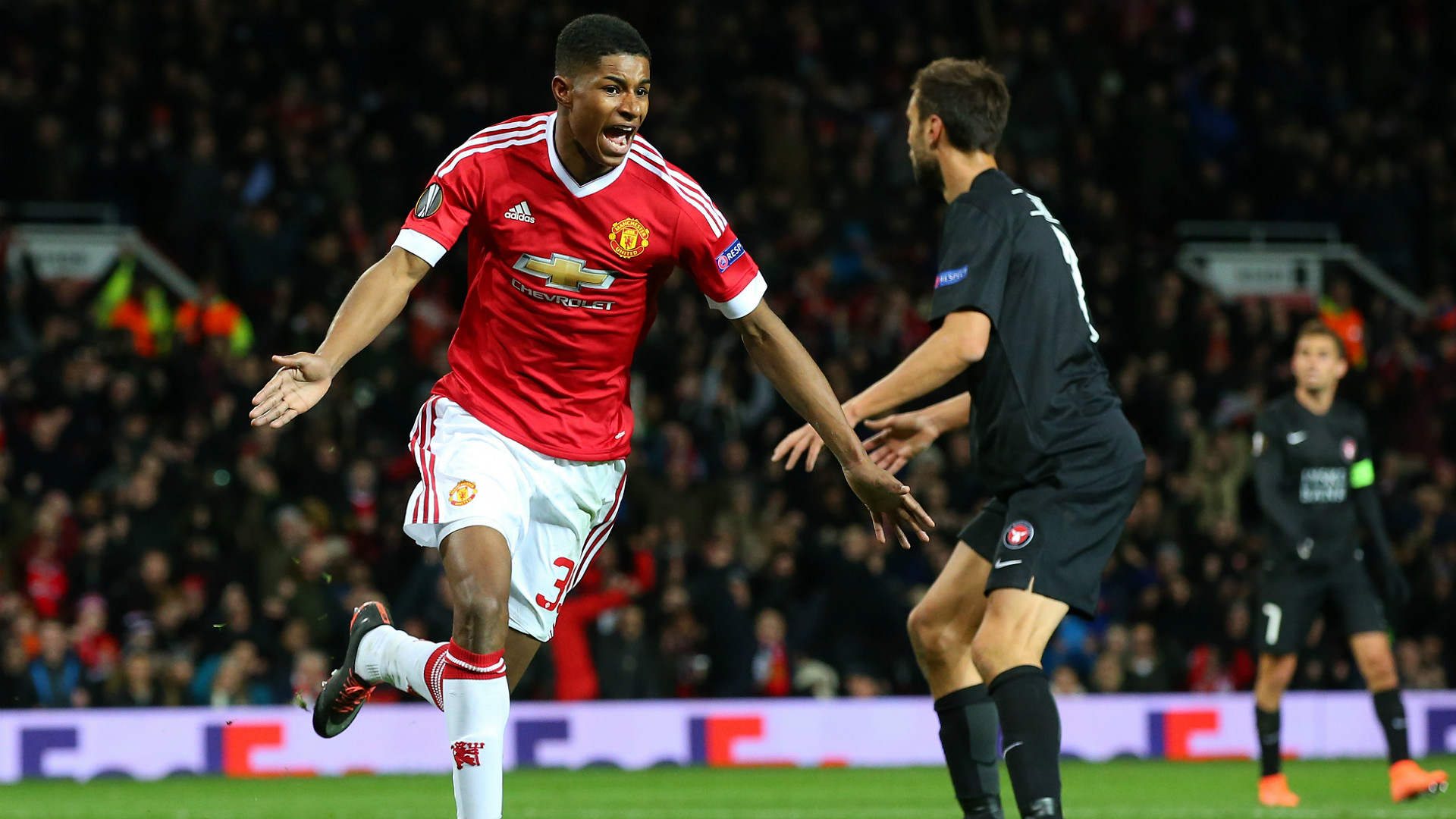 Rashford Manchester United Midtjylland UEFA Europa League 25022016