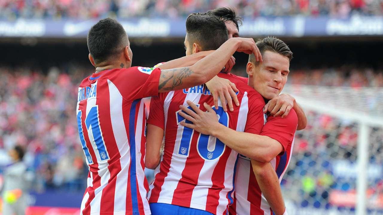 Atletico Madrid celebrates Atletico Madrid Granada La Liga