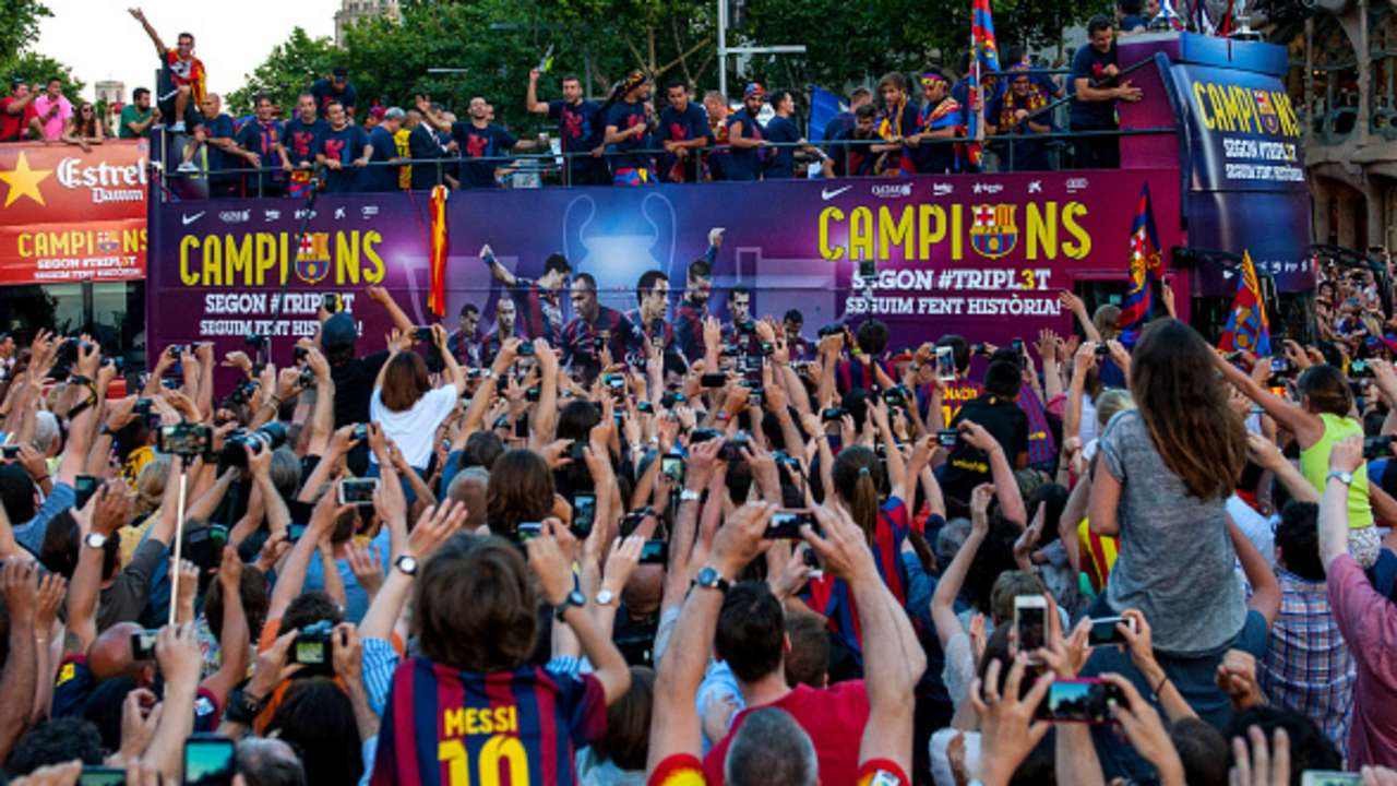 Barcelona UEFA Champions League celebration 06072015
