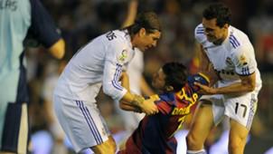 Sergio Ramos Alvaro Arbeloa David Villa Real Madrid Barcelona