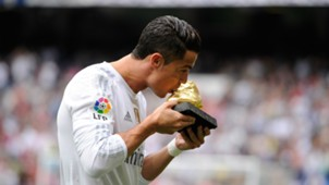 Cristiano Ronaldo Golden Shoe Madrid Levante La Liga 101712015