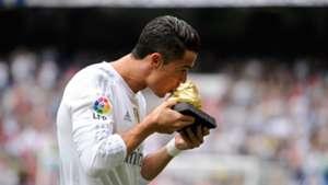 Cristiano Ronaldo Golden Shoe Madrid Levante La Liga 101712015