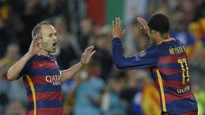Neymar Andres Iniesta Barcelona BATE Borisov UEFA Champions League 11042015