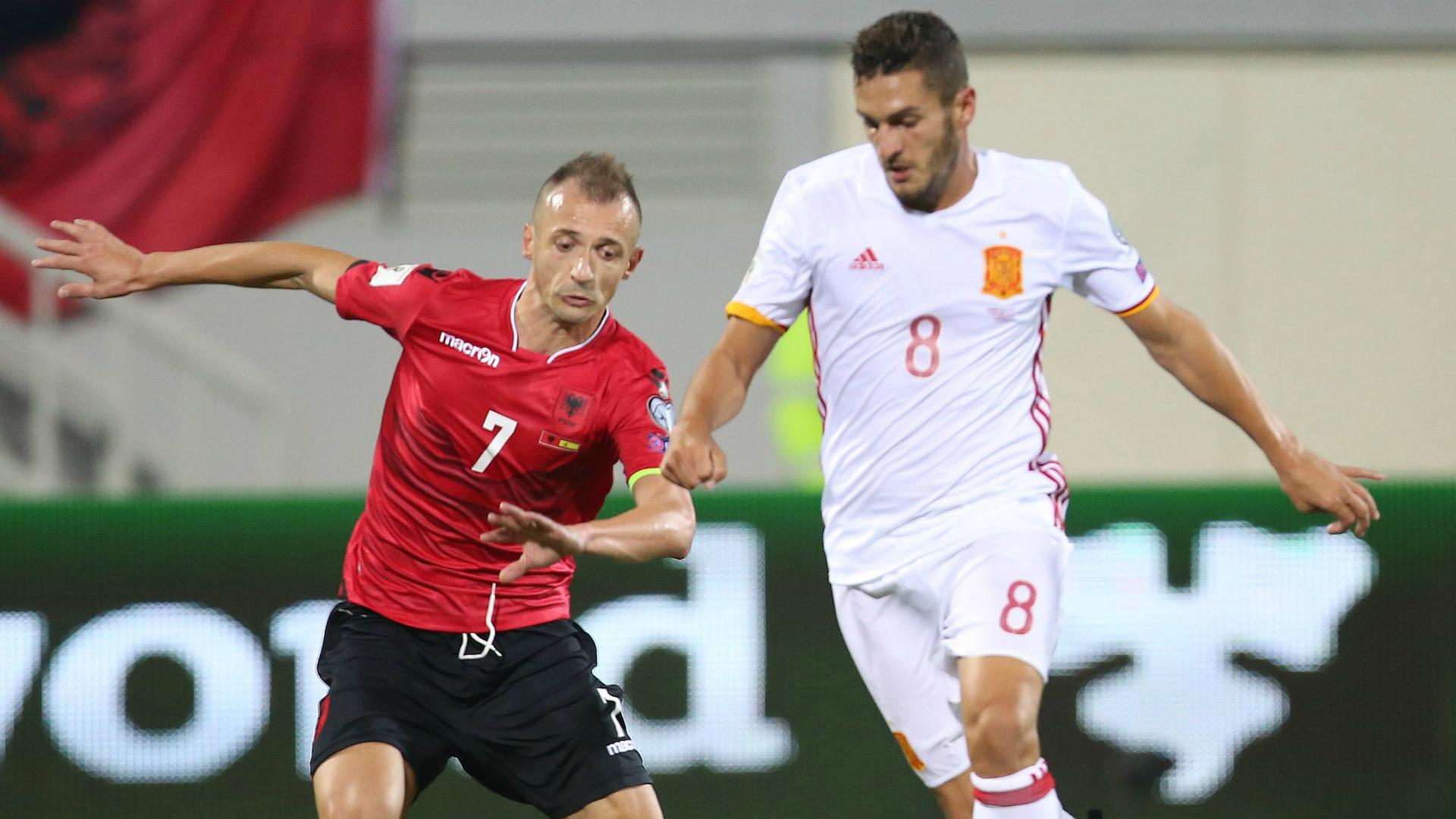 Koke Albania Spain 09102016