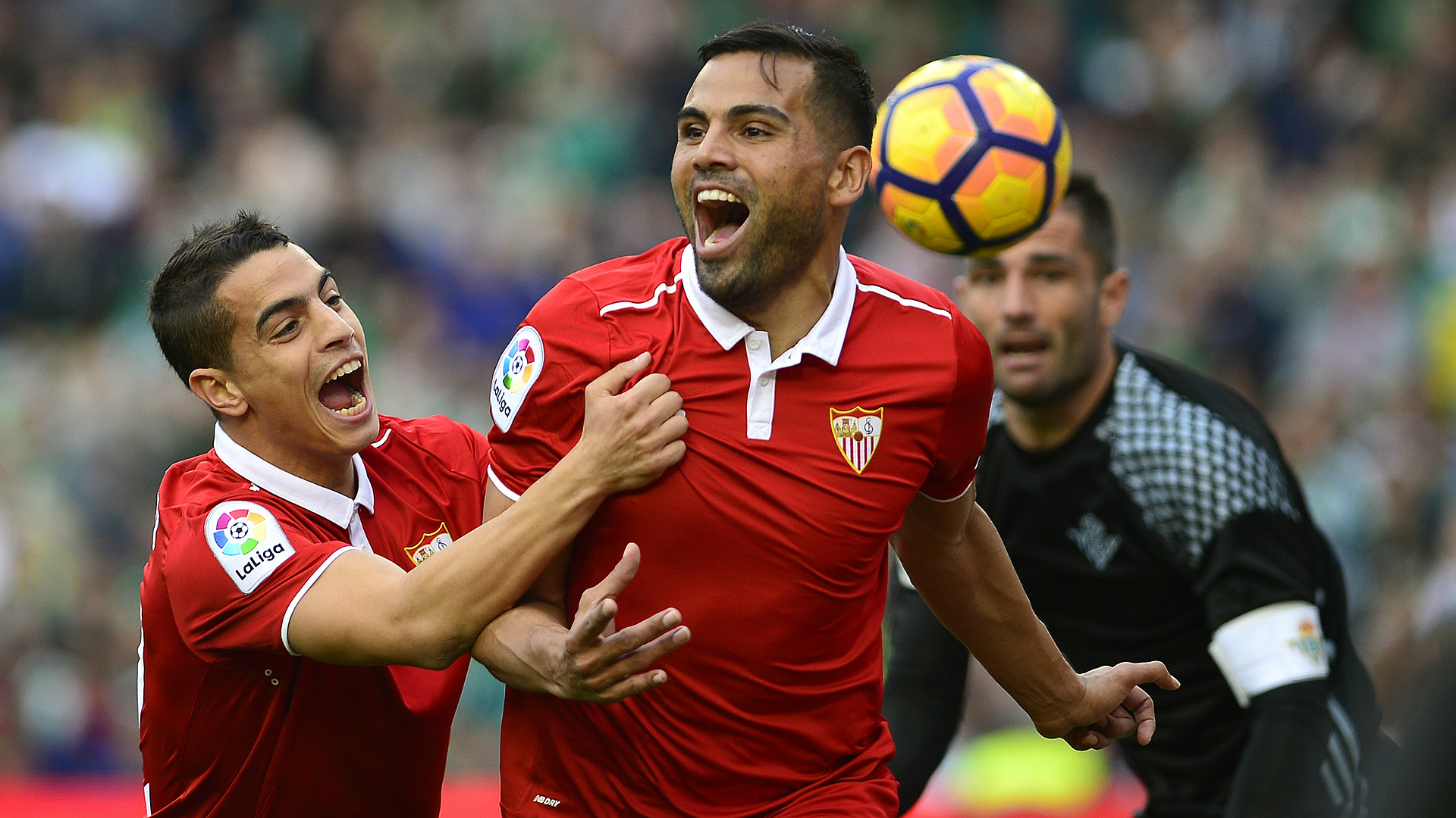 Gabriel Mercado Ben Yedder Betis Sevilla LaLiga 25022017