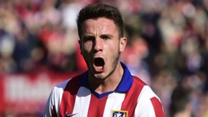 Saúl Ñíguez celebrates with Atlético Madrid