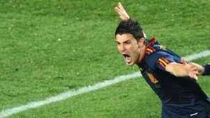 David Villa Spain Paraguay WC 2010