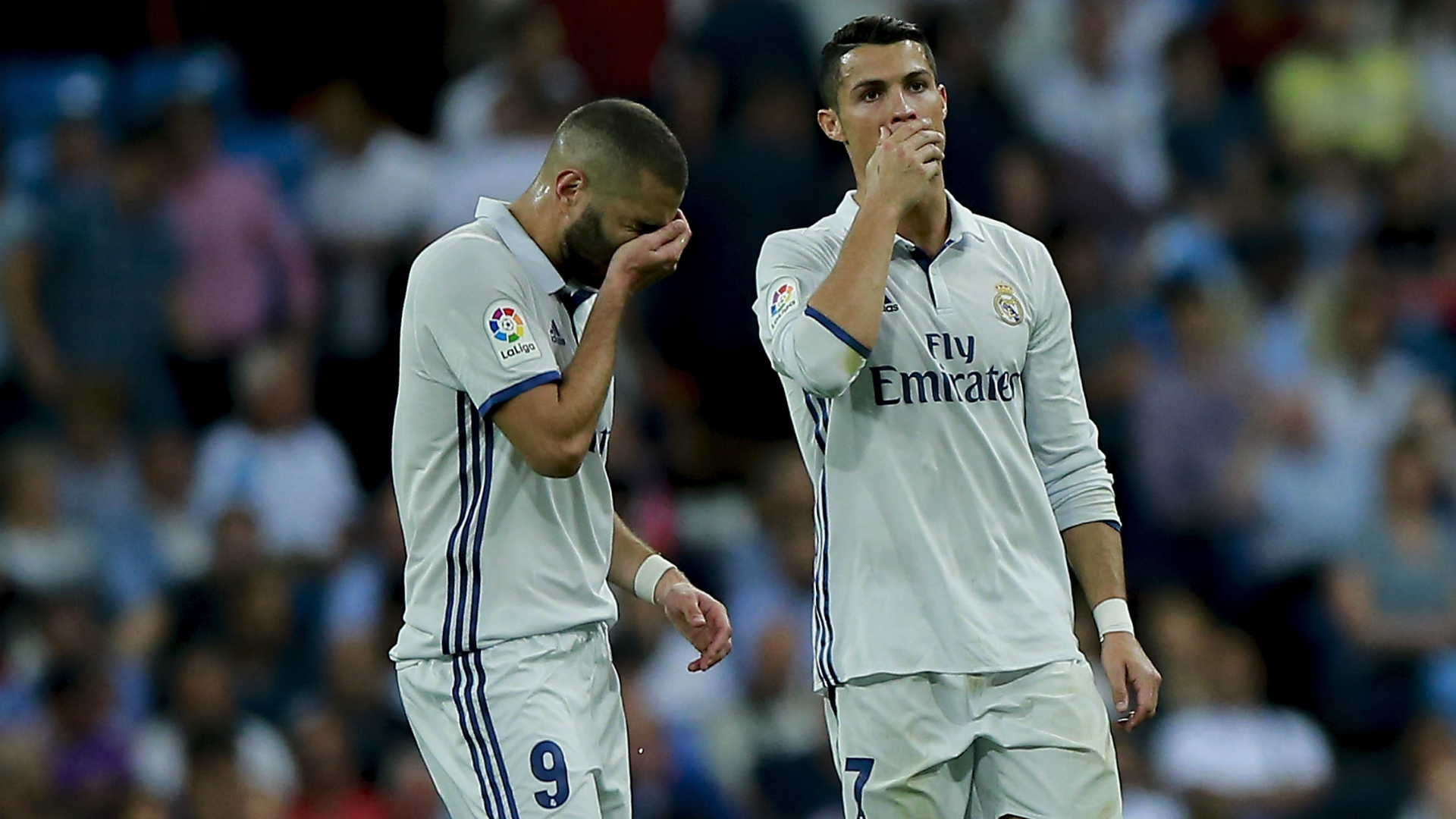 Cristiano Ronaldo Karim Benzema Real Madrid Villarreal La Liga