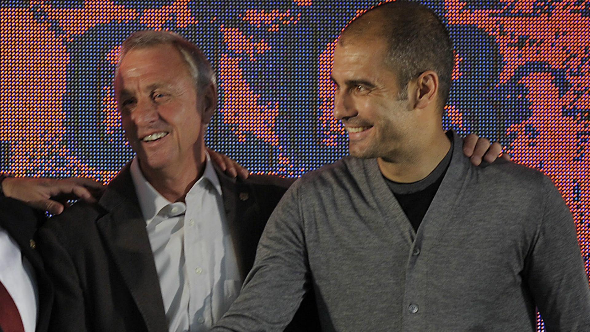 Johan Cruyff Pep Guardiola Barcelona